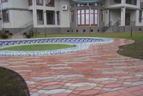Укладка тротуарной плитки Радуга 3082
