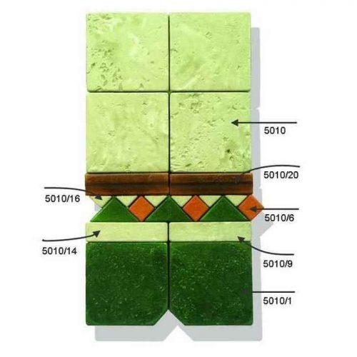Декоративная мозаика из плитки 5010k