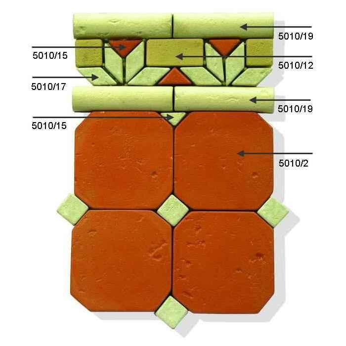 Мозаика из набора плиток 5010f