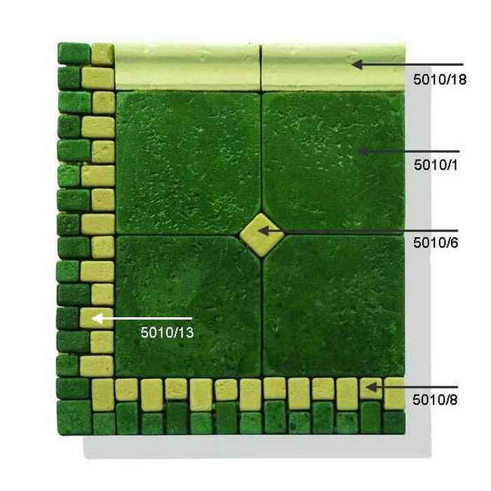 Мозаика декоративная из плитки 5010g